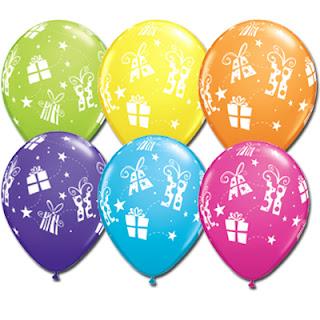 воздушные шарики  с подарками