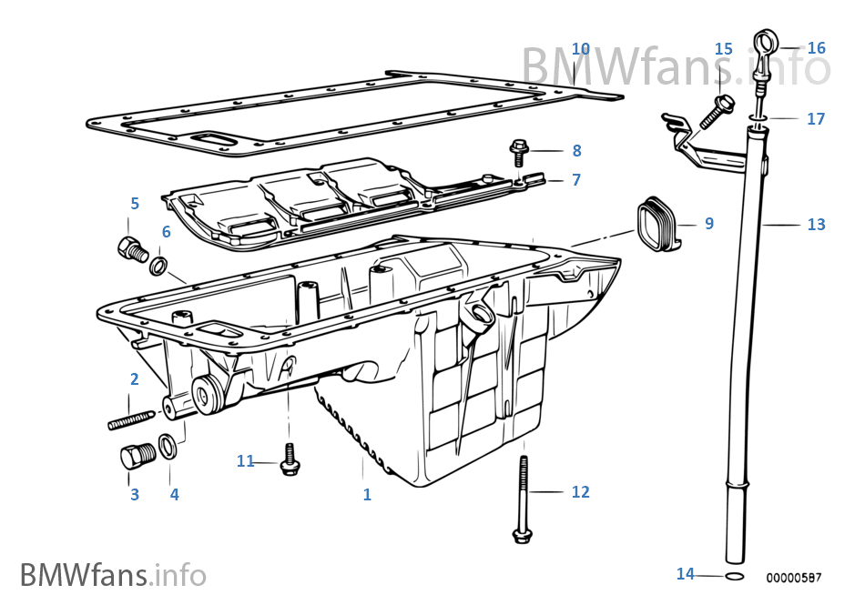 BMW E36 SOLUTION: Part mesin BMW E36 M40 Bag 1
