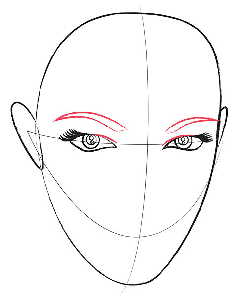 Coloring Eyes Nose Lips Coloring Pages