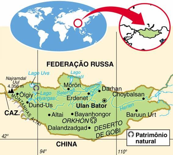 MONGÓLIA, ASPECTOS GEOGRÁFICOS E SOCIOECONÔMICOS DA MONGÓLIA