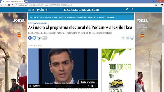 Así nació el programa electoral de Podemos estilo IKEA - El País - Pedro Sánchez - PSOE - Campaña Electoral - Publicidad - Propaganda - ÁlvaroGP - el troblogdita - Álvaro García