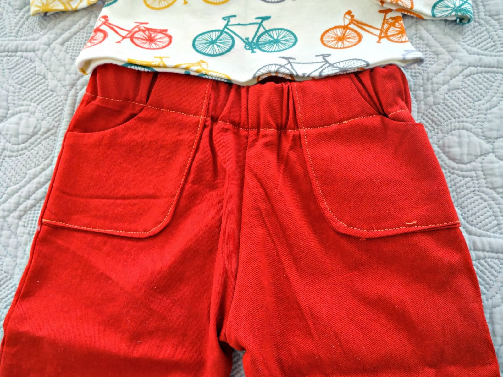 Seemesew Rust Colored Pants And Bikes