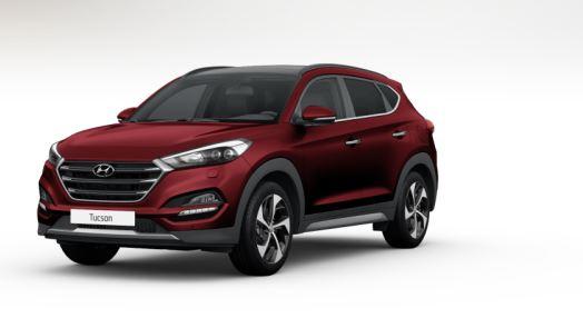 colori Nuova Hyundai Tucson 2016 Rosso Rubino - Ruby Wine frontale davanti