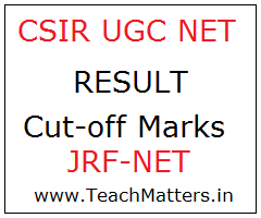 image : Joint CSIR-UGC NET Result & Cut-off Marks @ TeachMatters