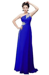 royal blue one shoulder junior plus prom dresses for teens