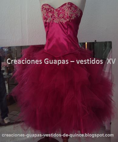 f8d46f25cc Vestido corto - modelo tull ~ Creaciones Guapas - Vestidos de 15 años
