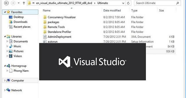 Cài đặt: Hướng dẫn cài đặt Visual Studio 2012 bằng hình