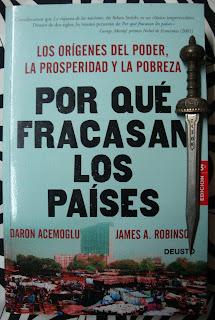 Portada del libro Por qué fracasan los países, de Daron Acemoglu y James A. Robinson