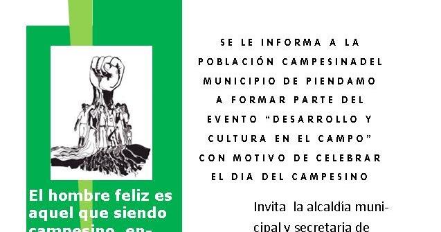 Dia Del Campesino Tarjeta De Invitacion