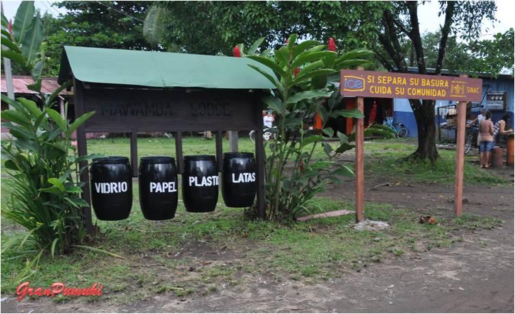 La preocupación institucional por el entorno en Tortuguero se evidencia en esta foto. Esta preocupación es generalizada en Costa Rica. En Blog de Viajes de Pumuki, Costa Rica, Tortuguero