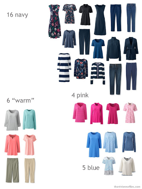 Spring wardrobe sorted by color