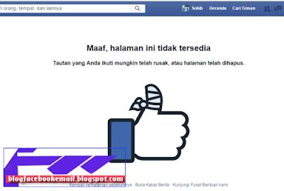 halaman Fanspage facebook telah terhapus