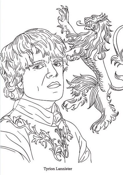 Coloring Dragons Game Of Thrones Coloring Pages