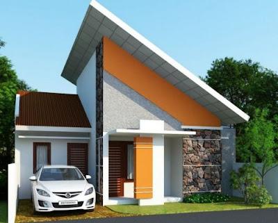 model atap sandar rumah type 36