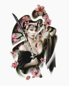 Angel is also an option with geisha tattoos