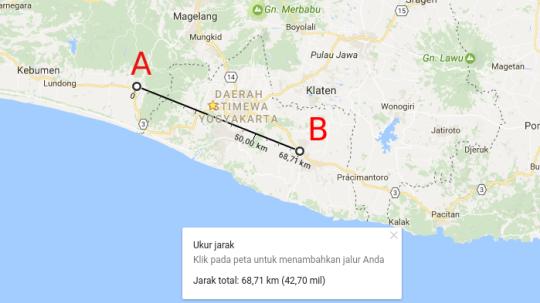 Cara Mengukur Jarak Tempat Secara Lurus dengan Google Maps