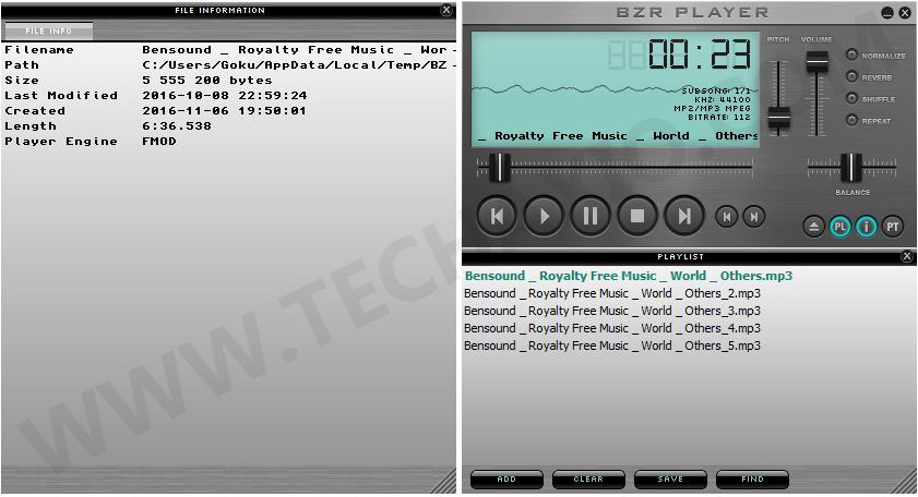 BZR Player Screenshot