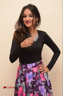 Actress Sana Pictures in Floral Skirt at Neerajanam Audio Launch  0070.JPG