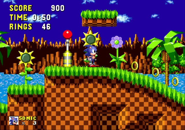 Sonic The Hedgehog. Game de Mega-Drive