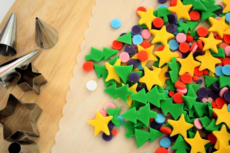 homemade christmas tree sprinkles