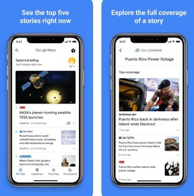 تطبيق أخبار جوجل يحصل تحديث