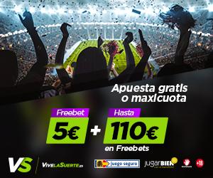 vivelasuerte 5 euros gratis + 110 euros bienvenida