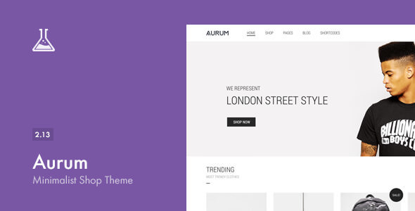 Aurum v2.13 - Themeforest Minimalist Shopping Theme
