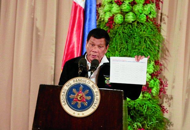 President Duterte: 'I'm not a killer; I believe in God, in karma.'