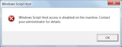 Οδηγίες απενεργοποίησης Windows Script Host