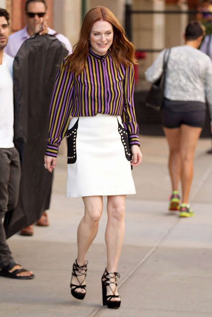 Julianne Moore at 'Good Morning America' in New York City