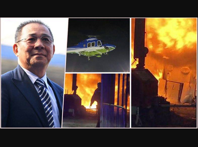 Photos: Billionaire Leicester City owner 'died in the helicopter crash alongside 'two crew and two other passengers'