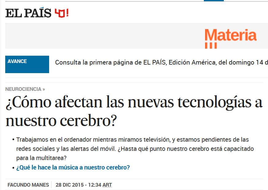 PQS] Para que sepan: ¿Cómo afectan las nuevas tecnologías a nuestro ...