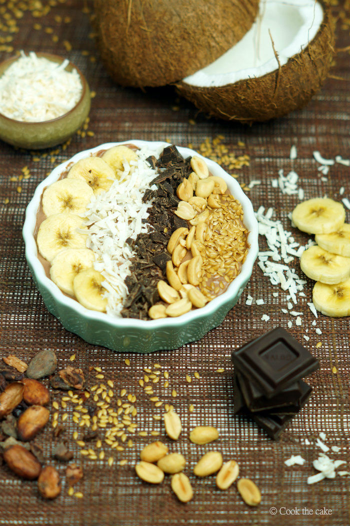 smoothie-bowl, chocolate-smoothie-bowl