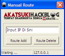 [SHARE] Manual Route