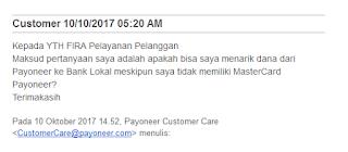 Cara Tarik Dana Payoneer Tanpa kartu debit payoneer