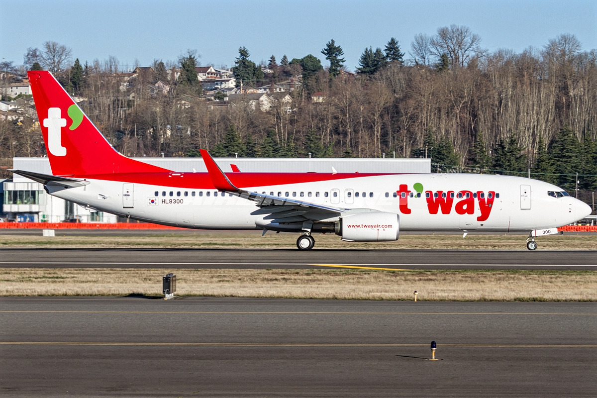 Boeing 737-800 of T'Way Air Ready To Takeoff