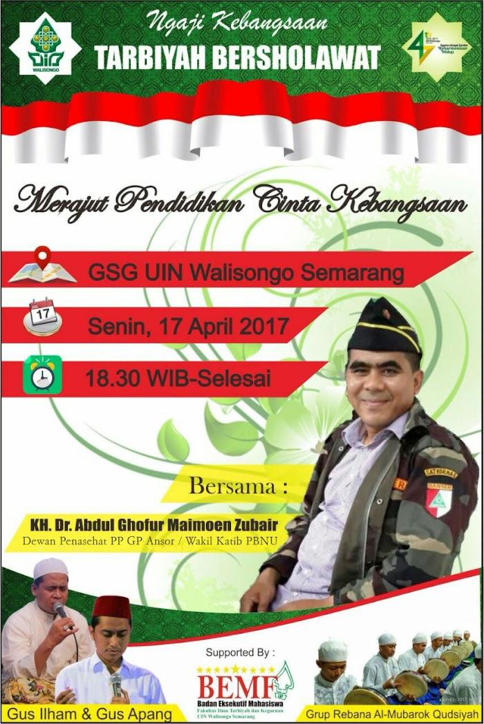 Hadirilah! Tarbiyah Bershalawat UIN Walisongo Semarang