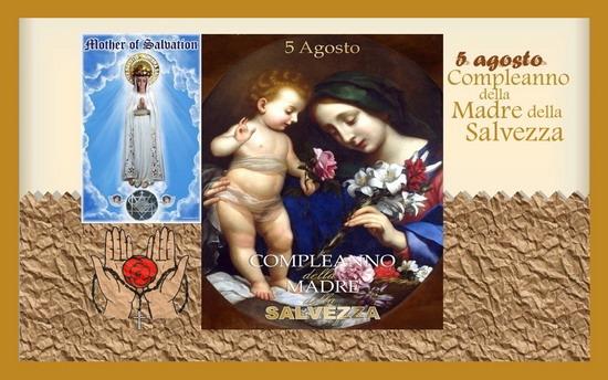Santo Rosario continuo, di 24 ore, 5 agosto, Compleanno della Madre della Salvezza