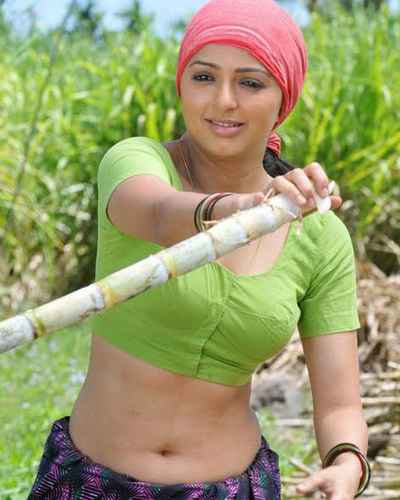 Tamil Actress Bhoomika In Hot Blouse Navel Show