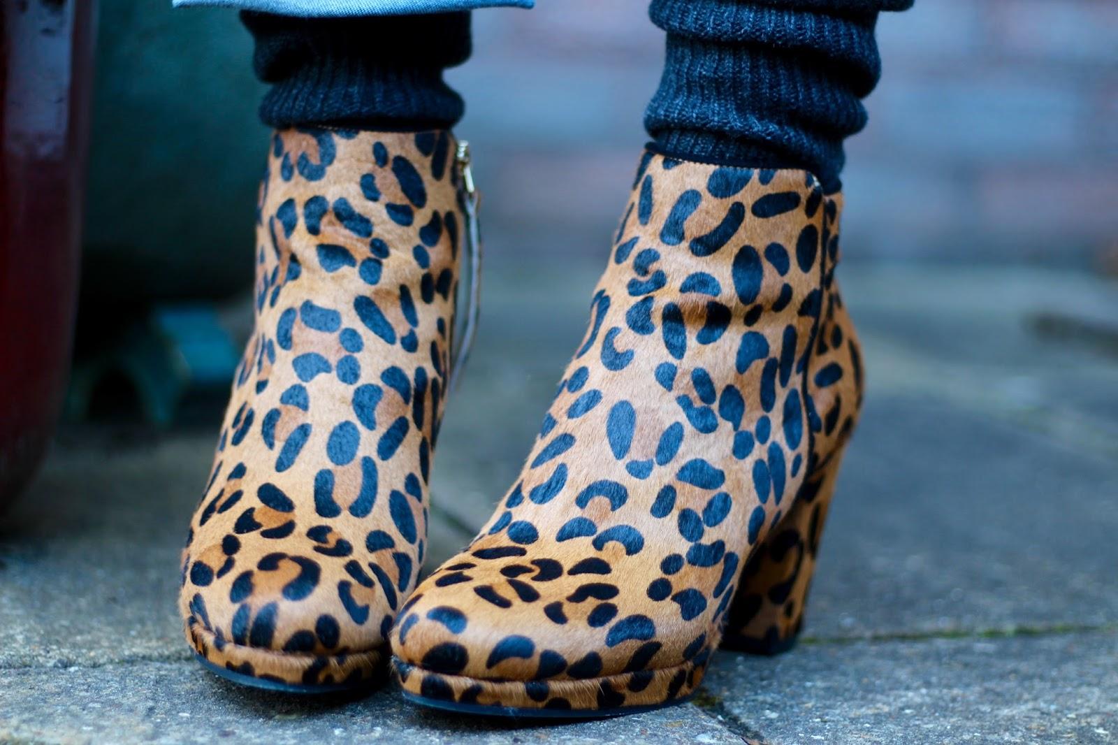 Leopard platform Boots, Cashmere Socks | Winter Style | Fake Fabulous