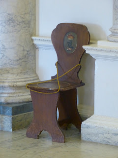 Chair in the Marble Hall, Clandon Park  (July 2014) © Andrew Knowles (1)