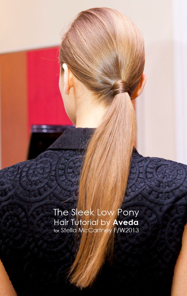 sleek low ponytail hair tutorial