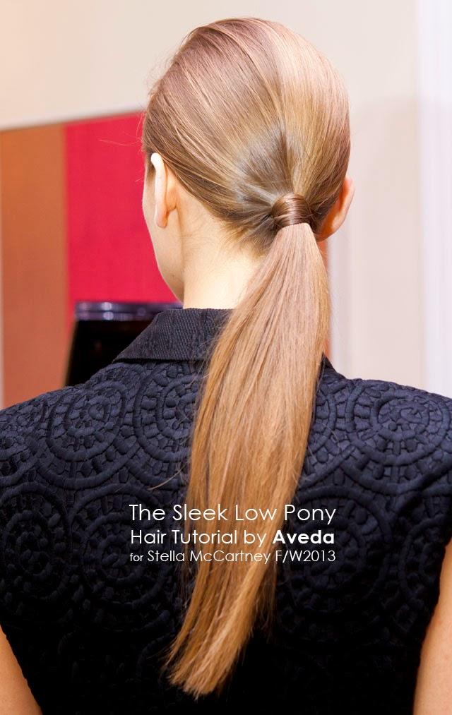 sleek low ponytail hair tutorial