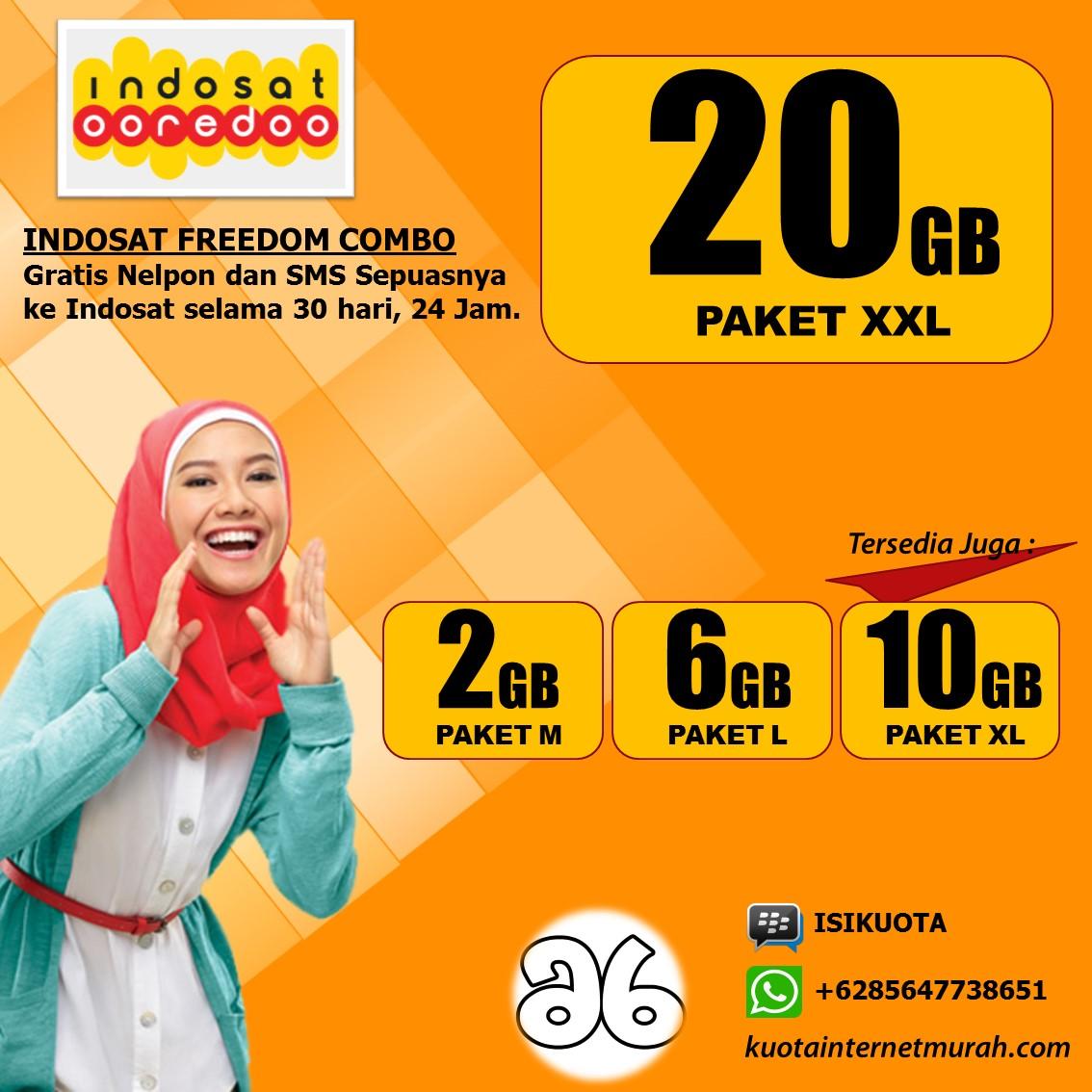 Harga Inject Kuota Indosat Ooredo April 2016 Freedom Combo L