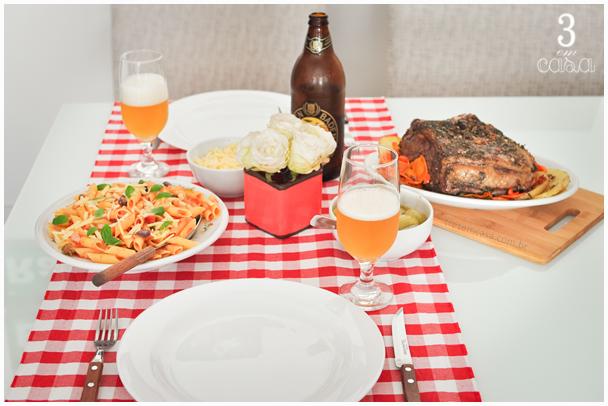 almoço de domingo gostoso mesa posta