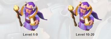 Perubahan wujud Grand Warden level 1 - 20