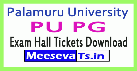 Palamuru University PU PG Exam Hall Tickets Download