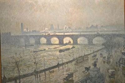 Bruxelles Musée fin du siècle Emile Claus : Waterloo bridge, soleil et pluie
