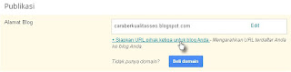Cara memasang domain di blog