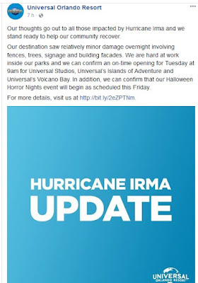 Universal Orlando Resort: Informe oficial post Irma - TheMagicChannelBlog